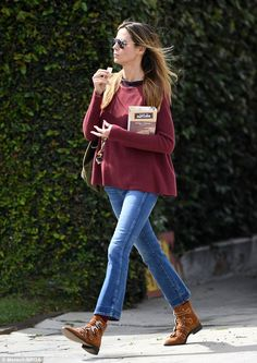 Pamper time!Heidi Klum spoils herself at skin care salon #dailymail