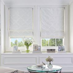 Hells Kitchen, House Windows, Blinds For Windows, Roman Shades Kitchen, Modern Roman Shades, Cordless Roman Shades, Contemporary Windows, Blackout Shades, Modern Blinds