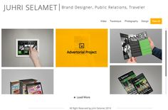Resume CV Online on juhri-selamet.com by Juhri Selamet, via Behance