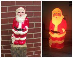 Vintage Santa Union Blow Mold Santa Light by MichelleandCoVintage