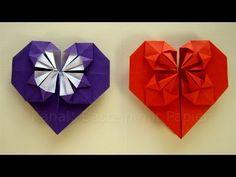 Origami Herz falten - Basteln mit Papier - z.B. Geschenk zum Muttertag - YouTube