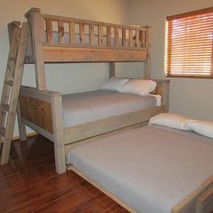Bunk beds for kids and adults have become much popular nowadays, and quite ... space for them to play or move around, particularly the l shaped bunk beds. #popularwoodworking