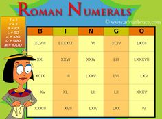 Roman Numeral Bingo and all sorts of other fun and FREE math and reading resources.