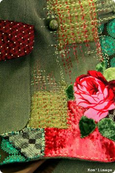 reprises sur vêtement Japanese Embroidery, Embroidery Art, Embroidery Stitches, Charm Square Quilt, Boro Stitching, Japanese Quilts, Fabric Journals, Tips & Tricks, Sewing Stitches