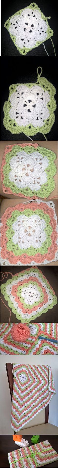 Blanket for Lena  #pattern #crochet #szydełkowanie #schemat #podkładki #podkubek #placemats #forcups #freepattern #blanket #kocyk