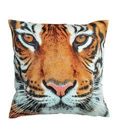 "Safari Animals Print Accent Decorative Throw Pillow Cover 100% Cotton Throw Pillow Cover Cushion 16 X 16"" Gray, Brown, Black, Off White (Tigre) Cushion Cover http://www.amazon.com/dp/B00O81VKJM/ref=cm_sw_r_pi_dp_6aOVvb01T9YSR"