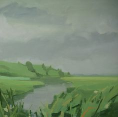 "Sara MacCulloch, ""Marsh,"" 2014, Oil on canvas"