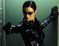 The Matrix (1999) - Moviefone Trinity Matrix, Film Science Fiction, The Matrix Movie, Matrix Reloaded, Carrie Anne Moss, Films Cinema, Nerd, Thing 1, Badass Women