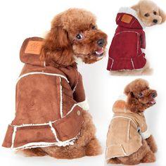 Winter Dog Clothing Berber Fleece Pet Hoodie Clothes Jacket Coat Apparel Accessories