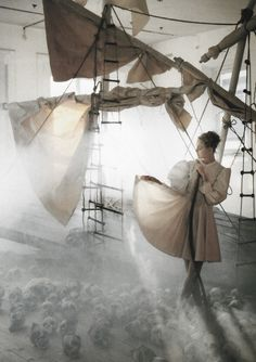 """Caroline Trentini in """"A Play Of White"""" for Vogue Italia  by Tim Walker"""
