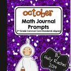This fantastic pack of Common Core aligned Math journal prompts is perfect for the month of October. The prompts are themed around Halloween. Inclu...