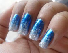 Blue to Silver polish