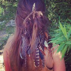 light as a feather headband with pretty hair