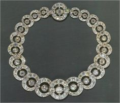 DIAMOND CIRCLE NECKLACE~ this beautiful diamond necklace was the property of the Princess Margaret Rose, sister of HM Queen Elizabeth II.