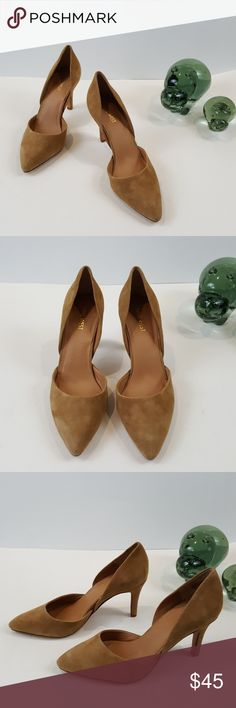 NWOT Nine West Suede D'Orsay Heels Size 9 Nine West Suede D'Orsay Heels Size 9 Colour Nude/Beige Pointy Toe Heel Height 3 3/4 Inchs NWOT Nine West Shoes Heels
