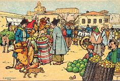 Postcard - Oscar Schmerling - Bygone Tbilisi 9 - Shaitan-Market (Tartar Square) | Flickr - From the Collection of Bonnie Naifeh and David Smith