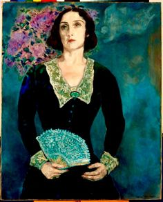"""Bella Rosenfeld"" by Marc Chagall is the portrait of his wife. The Painting depicts Bella Rosenfeld in her velvet green dress. Painting Illustration, Marc Chagall, Image, Painting, Art, Fauvism, Portrait, French Artists, Jewish Artists"