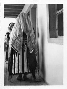 Bride's announcement party, between Čučer and Sandevo, Macedonia (Southern Serbia, former Yugoslavia), circa 1930-1937 :: Blanche Payne Regional Costume Photograph and Drawing Collection