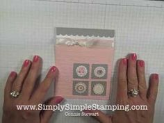 VIDEO - Simply Simple FLASH CARDS 2.0 - Soft & Sweet Card by Connie Stewart