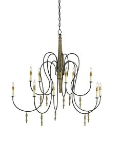 Ten Light Chandelier c&c rouleau 41h x 39 w 1740