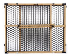 Acquire the Safety Nature Next 24 in. Child Safety Gate wood made of eco-conscious bamboo and recycled plastic pressure mounted between rooms to restrict children and pets from entering from The Home Depot