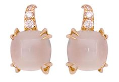Moonstone and Diamond Earrings worn by Michelle Obama at the Democratic National Convention