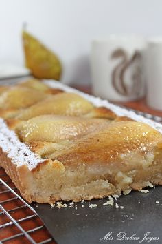 Tarta de pera, almendra y amaretto (by Lorraine Pascale) Decadent Cakes, Pastry Shop, Chicken Salad Recipes, Tart Recipes, Cakes And More, Cake Cookies, Afternoon Tea, Cooking Time, Baking