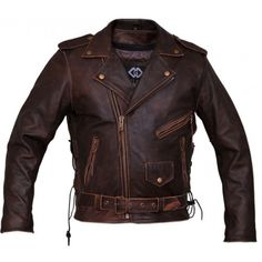 Great for Men's Marlon Brando Biker Motorcycle Vintage Distressed Brown Leather Jacket Mens Jackets from top store Vintage Biker, Vintage Leather Jacket, Biker Leather, Vintage Men, Leather Men, Leather Jackets, Motorcycle Leather, Cowhide Leather, Classic Motorcycle