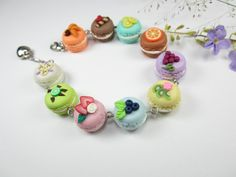 Fruity+French+Macaron+Bracelet++food+jewelry++food+by+beadpassion,+$25.00 Kristi Cooper this reminded me of you!