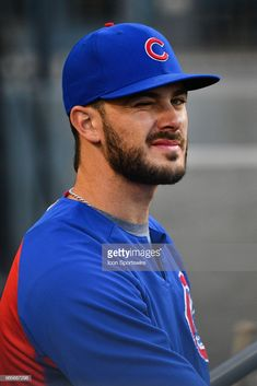 Chicago Cubs third baseman Kris Bryant winks to the camera during a MLB game between the Chicago Cubs and the Los Angeles Dodgers on June 2018 at Dodger Stadium in Los Angeles, CA. What Is Baseball, Chicago Cubs Baseball, Baseball Boys, Baseball Couples, Baseball Boyfriend, Baseball Crafts, Baseball Birthday, Baseball Shirts, Softball