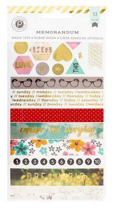Pink Paislee - Memorandum Collection - Washi Tape Book