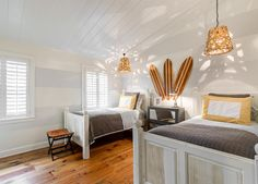 Beach Chic Design kid space - contemporary - kids - other metro - Beach Chic Design. Love the beds, wish I could find the vendor.