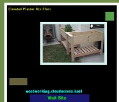 Elevated Planter Box Plans 204438 - Woodworking Plans and Projects!