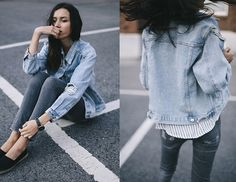 Get this look: http://lb.nu/look/7547374 More looks by Beatrice Gutu: http://lb.nu/thefashioncuisine Items in this look: Jacket, Shirt, Jeans #casual #chic #minimal
