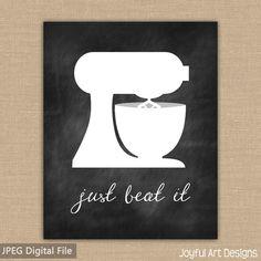 Kitchen Decor PRINTABLE signs. Set of by JoyfulArtDesigns on Etsy