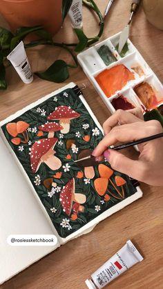 Gouche Painting, Guache, Tips & Tricks, Diy Canvas Art, Aesthetic Painting, Aesthetic Art, Art Drawings Sketches, Art Sketchbook, Art Tutorials
