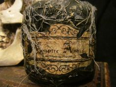 Halloween Potion Bottle/ Jar , Vampire Ashes by HBakerStudio on Etsy