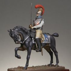 Officer of the 1st regiment of mounted carabiniers 1812, France.