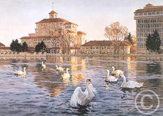 Watercolor - The Broadmoor Hotel in Colorado Springs