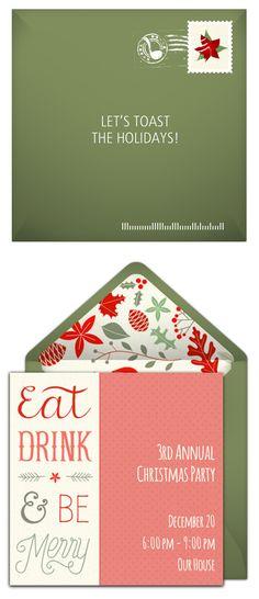 Free Feliz Navidad Invitations Christmas invitations - invitation wording for christmas dinner party