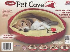 """25"""" Round Dog Puppy Ultra Cave Bed"""