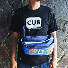 CUB TRAVELER T-Shirt and Hip Bag Blue Navy is your holiday friends, #cub #cubtraveler #hipbag #tshirt #vscocam
