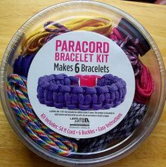 Paracord Bracelet Kit for Girls Makes 6 Purple Pink Yellow More Great Gift   eBay