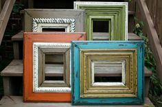 Distressed picture frames project-ideas-for-the-home Diy Arts And Crafts, Decor Crafts, Fun Crafts, Diy Home Decor, Wood Crafts, Frame Crafts, Diy Frame, Wood Projects, Woodworking Projects
