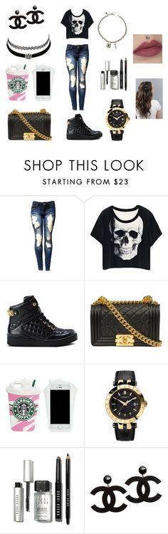 """Teen Fashion"" by fiji-cammy on Polyvore featuring Moschino, Versace, Charlotte Russe, Bobbi Brown Cosmetics and David Yurman"