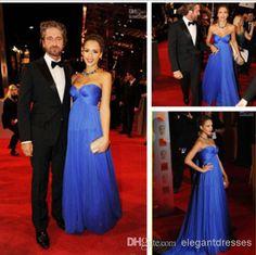 Vestidos De Festa Feito 2014 Elegante Chiffon Querida Strapless Azul Red Carpet Celebridade Vestidos Vestidos De Noite Vestidos Longos Para Formatura De Elegantdresses, $114.63 | Pt.Dhgate.Com