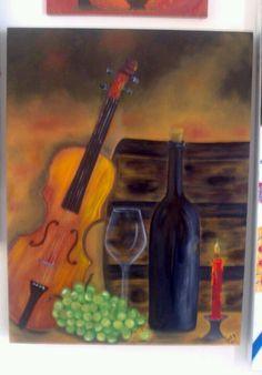 """""""Bohemia"""" pintura al oleo Autor: Emma Vivanco"""