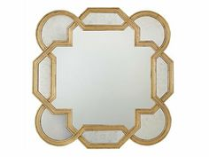 Bernhardt Salon Gold Leaf Wall Mirror   341-322G