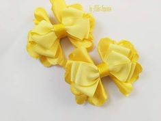 Lacinho Jaine (fita numero 5 ) - YouTube Diy Hair Bows, Diy Bow, Diy Ribbon, Hair Bow Tutorial, Flower Making, Hair Clips, Headbands, Embellishments, Projects To Try
