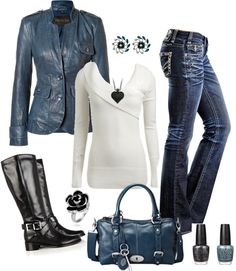 """""""Untitled #126"""" by virtual-closet on Polyvore..minus the blue jacket"""